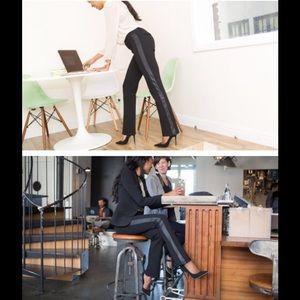 Betabrand Dress Pants tuxedo black straight leg